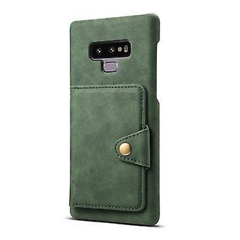 Lommebok skinnveske kortspor for iphone7plus / 8plus mørkegrønn no4514