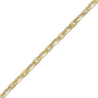 جويليكو لندن 9ct الذهب مدببة البيضاوي بيلتشر قلادة سوار 5mm