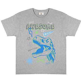 Popgear Flickor Awesome Dinosaur Heather T-Shirt