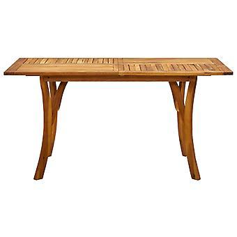 vidaXL tuintafel 150x90x75 cm Acacia massief hout