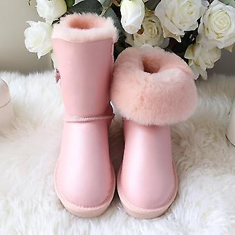 Woman Snow Boots, Leather Boots