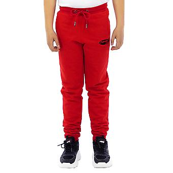 Supreme Grip Boy Long Pants Embroidery Forbidden  Red