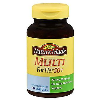 Nature Made Nature Made Multi For Her 50+ Softgels, 60 Tabs