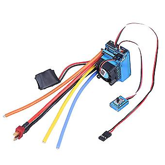 120a Esc Brushless Electric Speed Controller For Rc 1:10/ 1:8 Car Truck (blue)