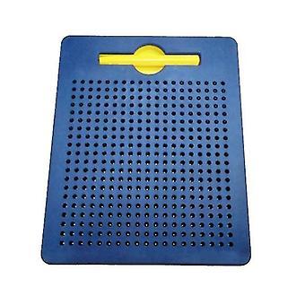 Numeerinen kirjain Muovinen Teräspallo Magneettinen piirustuslauta Lasten lelu (tummansininen)