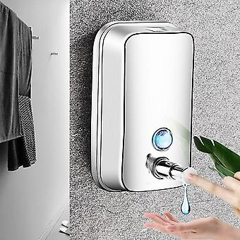Stainless Steel Hand Soap Dispenser Wall Mounted Refillable Soap Pump, 800ml  Soap Dispensers