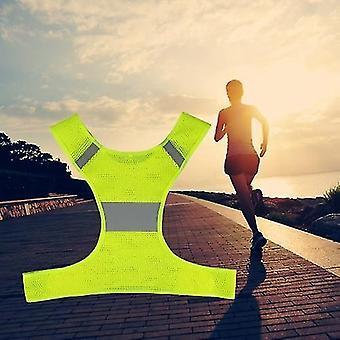 دراجة الدراجة البلوزات الرياضة في الهواء الطلق تشغيل سترة عاكسة قابل للتعديل معدات السلامة خفيفة الوزن للنساء الرجال الركض المشي ركوب الدراجات
