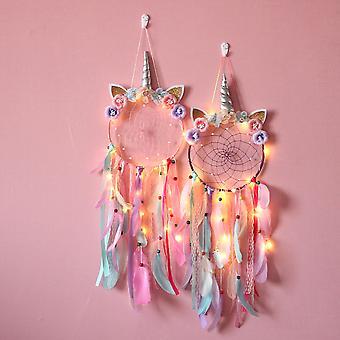 Licorne Dream Catcher Kawaii Room Decor Dream Catchers Home Decor Wall Hanging for Girls Kids Girl Bedroom Decoration Gift