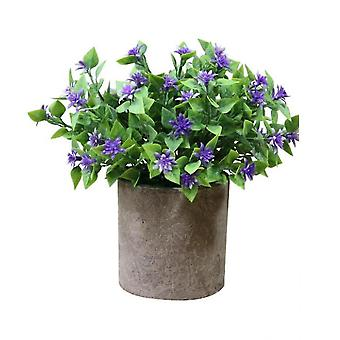 Artificial Potted Plants Plants In Pots  For Home Decor Office Desk Decoration(Style4)