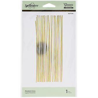 Spellbinders Glimmer Backgrounds Hot Foil Plate - Modern Lines