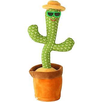 Fidget Toys Big Eyes Cactus Plys Legetøj, der kan synge og danse
