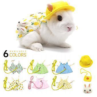 Süße Hase Haustier Weste mit Leine Kaninchen Kleidung Kaninchen Kleid Kleidung