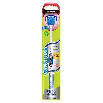 Orabrush Tongue Cleaner door DenTek, helpt slechte adem te bestrijden, 1 count