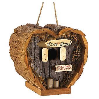 Songbird Valley Heart-Shaped Love Shack Mini Bird House, Pack of 1