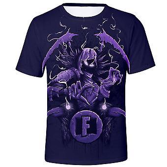Summer Short-sleeved Fortnite 3d Crew Neck T-shirt Fortnite