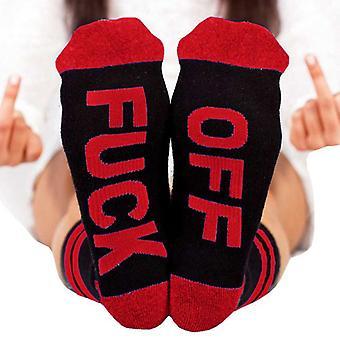 Unisex Fuck-off Brief gedruckt Lustig Soft Sports Neuheit Casual Socken