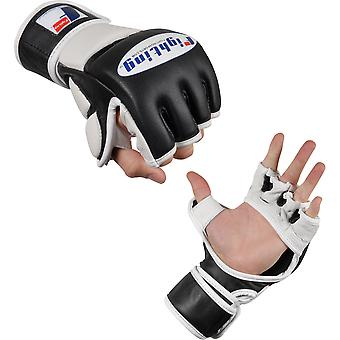 Fighting Sports MMA Grappling Training Gloves - Black/White