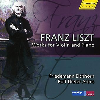 F. Liszt - Liszt: Works for Violin & Piano [CD] USA import