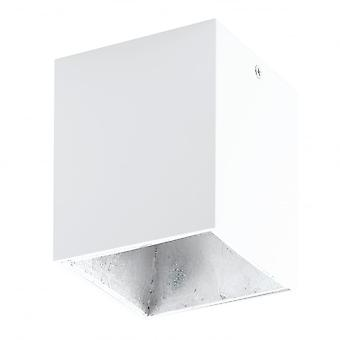 Eglo POLASSO White Silver Surface LED Square Downlight