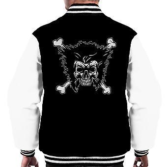 Jolly Logan Skull And Cross Bones Wolverine X Men Men's Varsity Jacket