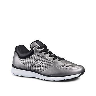 Hogan mænd sneakers i sølv lamineret kalveskind