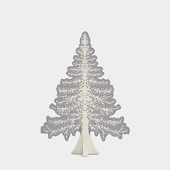 East of India Small Wooden Fir Tree Freestanding Christmas Decoration