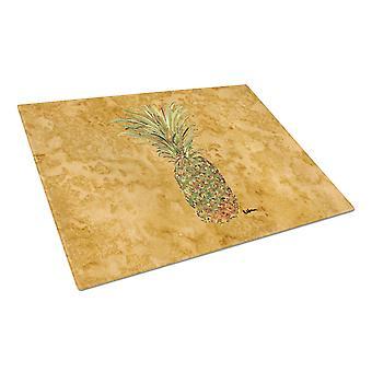 Carolines Treasures  8654LCB Pineapple  Glass Cutting Board Large