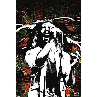 Bob Marley - malen Splash Poster Plakat-Druck
