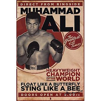 Muhammad Ali - Vintage Poster Poster Print