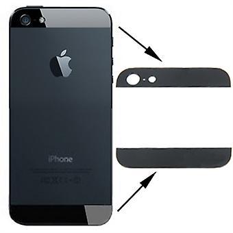 مجموعة فون 5s-SE الزجاج الخلفي كامل أسود