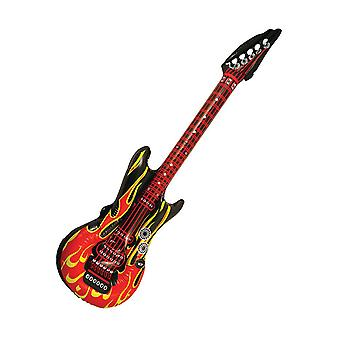 Guitare gonflable flamme (106cm)