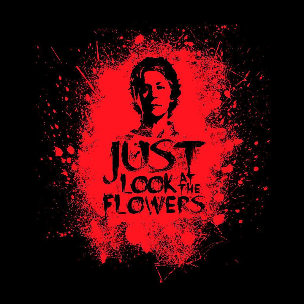 Caminar muerto Carol mira chaqueta Varsity de mancha de sangre de los hombres de flores