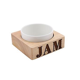 CGB Geschenkartikel Loft Jam geschnitzt Holz Keramik Schüssel Set