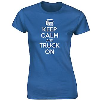Keep Calm And Truck On Womens T-Shirt 8 Colours by swagwear