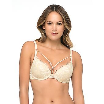 Sapph 6040-120-18-01 Women's Thalia Nude Lace Underwired Push Up Bra