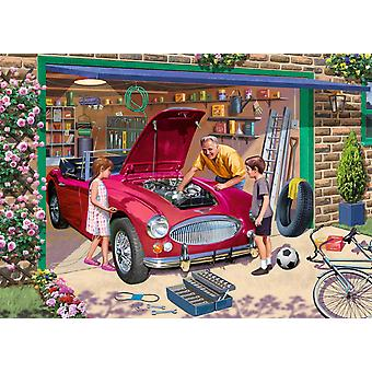Falcon Deluxe Grandad's Garage Jigsaw Puzzle (500 Pieces)