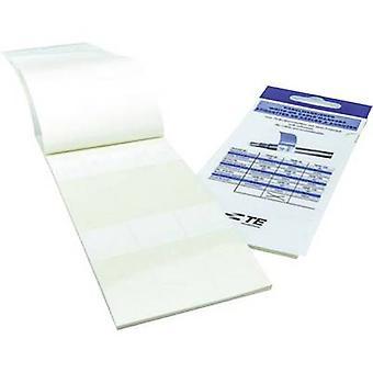 TE Conectividad 8-1768048-1 TKM75-N Identificador de cable TKM 25 x 25 mm Color de la etiqueta: Blanco No. de etiquetas: 60