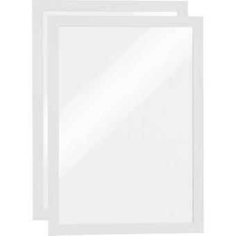 Durable 487202 DURAFRAME A4 - 4872 Ad frame (self-adhesive) A4 White (W x H) 236 mm x 322 mm 2 pc(s)