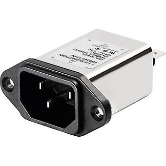 Schaffner FN9244-1-06 Line filter + IEC socket 250 V AC 1 A (L x W) 48 mm x 22.5 mm 1 pc(s)