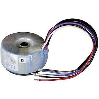 Sedlbauer 825001 Toroidal core transformer 1 x 230 V 2 x 9 V AC 15 VA 0.84 A