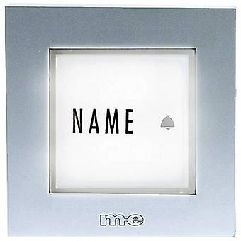 m-e modern-electronics KTB-1 S Bell panel backlit, incl. nameplate 1x Silver 12 V/1 A