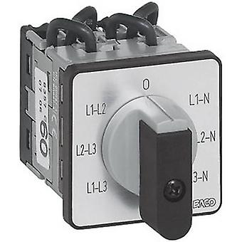 BACO NY37GQ1 Voltmeter changeover switch 16 A 360 ° Grey, Black 1 pc(s)