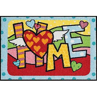 Salon lion doormat pop art home 50 x 75 cm, washable mats