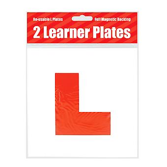 County Stationery Magnetic Red Learner Driver L Plates (Pack Of 2)