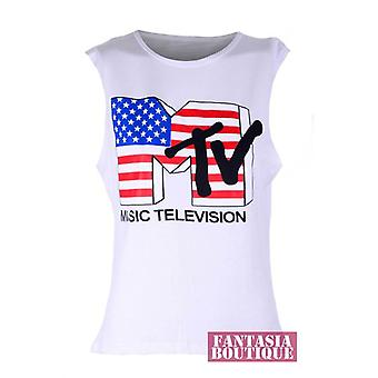 Ladies Sleeveless Various Trendy Print Vest Women's T-Shirt