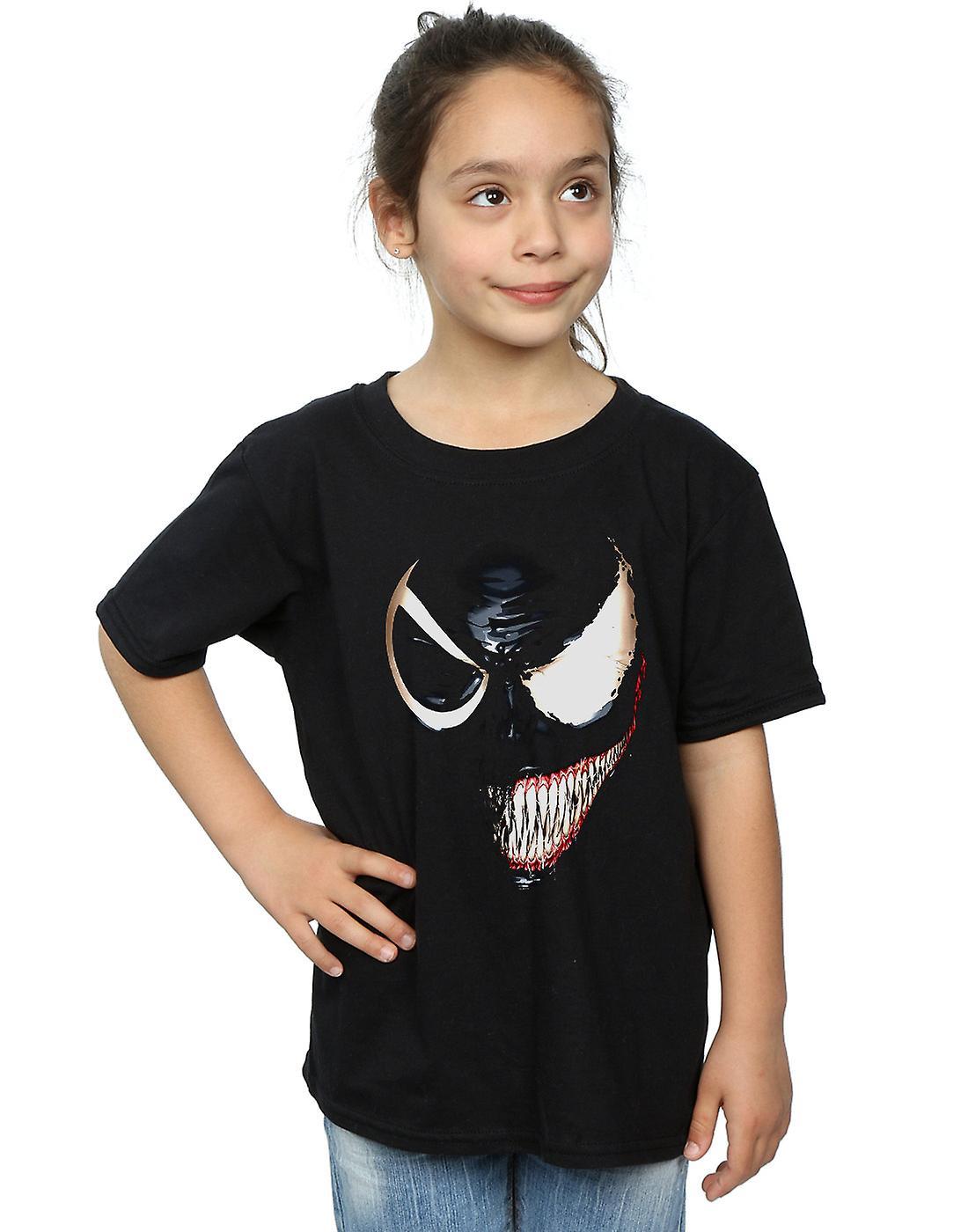 Marvel Girls Venom Split Face T-Shirt