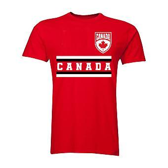 كندا الأساسية لكرة القدم البلد تي شيرت (أحمر)