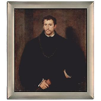 With Ram Portrait of a Gentleman, Titian, 61x51cm