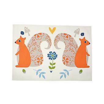 Dexam Tea Towel, Woodland Squirrels