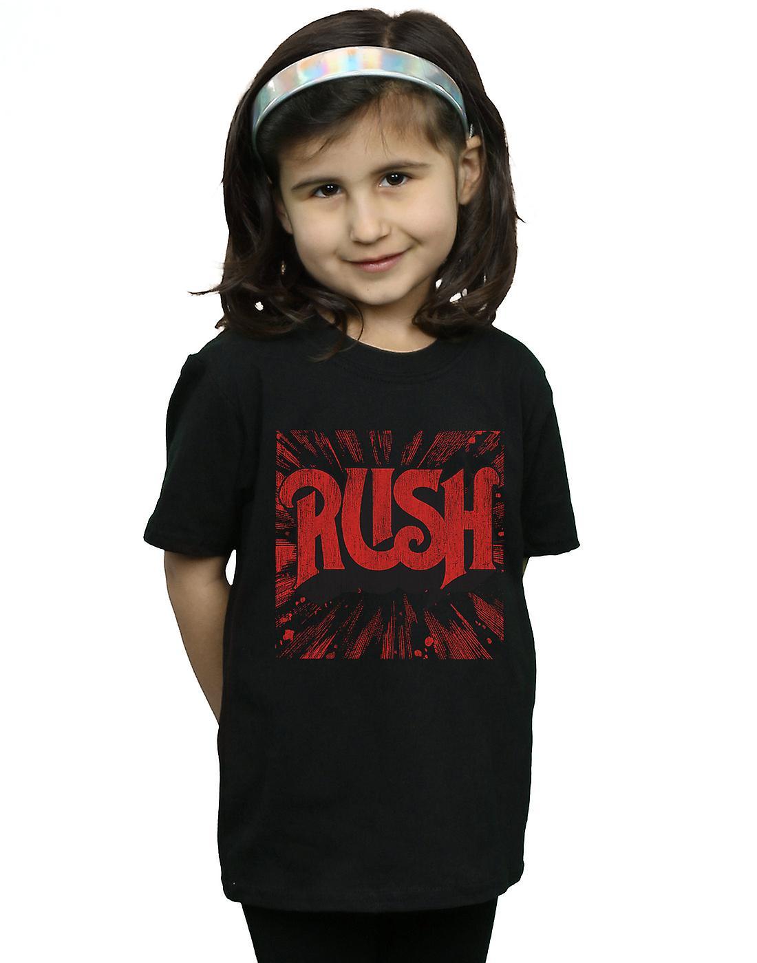 Rush Girls Distressed Burst Logo T-Shirt